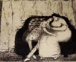 Etching-mother daughter